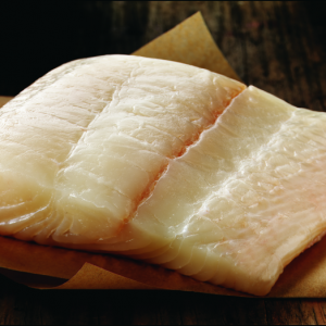 Raw Alaska Halibut Fillet